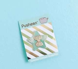 Pusheen special gold pin