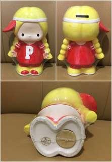 Sanrio Patty 1976 年 人形陶瓷儲金箱 (Made in Japan) 7.5 吋高 (** 只限北角地鐵站交收 **)