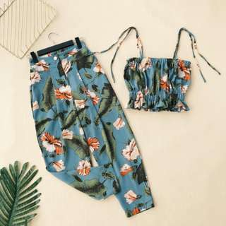 Tropical Vibes Cute Two Piece Set