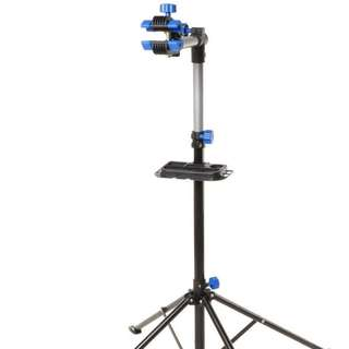 Bike Repair Work Stand With Bonus Tool Tray For Home Bicycle Mechanic Quick Release