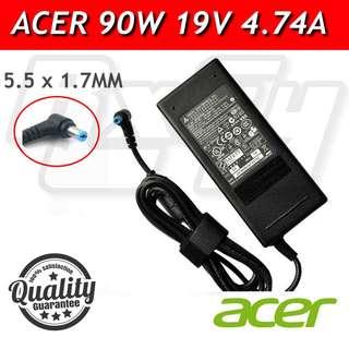 ORIGINAL Acer 90W Power Adaptor Charger AC Supply aspire gateway extensa travelmate 19v 4.74a
