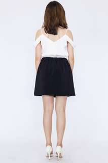 Contrast Piping Mini Skirt