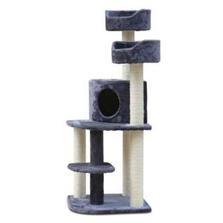 126cm Multi Level Cat Scratching Tree - Grey PET-CAT-WT01-GR