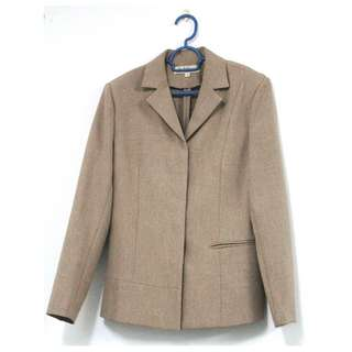 Light brown jacket with skirt (2-piece)