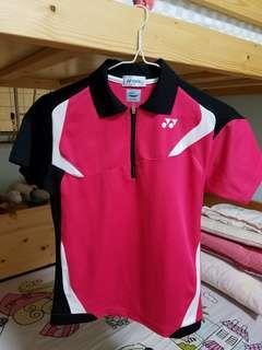 近全新 正版女裝或中童大童裝 yonex 羽毛球網球上衣衫