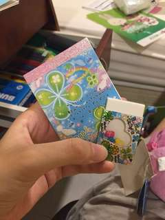 Angel love clover glittery notepad set