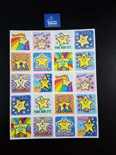 [INSTOCK] BN Kids Drawn Stars Motivational Stickers (Carson Dellosa)