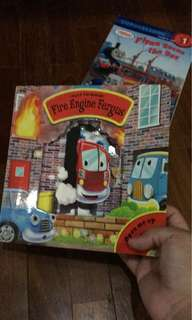 Pre-loved fire truck hardboard book