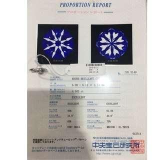 (附日本証)0.50 2ct鑽石戒指