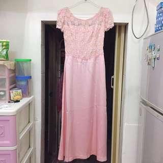 品質超級好の粉色禮服