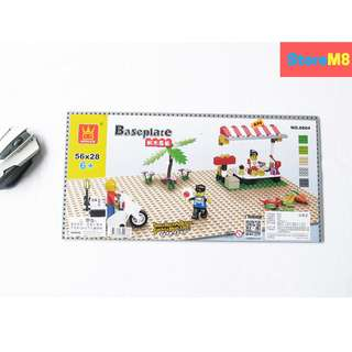 LEGO COMPATIBLE BASEPLATE GRAY - 44X22 CM
