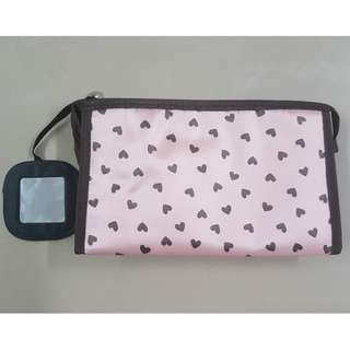 Toiletries Pouch With Mirror / Cosmetic Pouch / Travel Pouch
