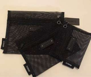 FREE shipping mimco 3 in 1 mesh pouch