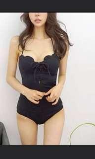 Swimwear, black swimsuit