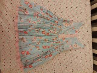 H&M dress anak perempuan flowers tosc