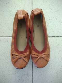 Leather Brown Flats