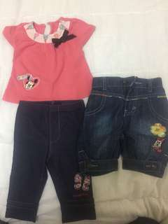 Disney Baby and Anakku Blouse and Pants