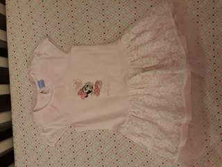 Disney Baby dress anak perempuan tutu Minnie Mouse