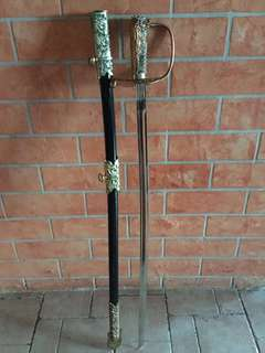 Antique Chinese Stainless Steel Sword