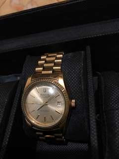 Bulova president super seville mens gold automatic swiss watch