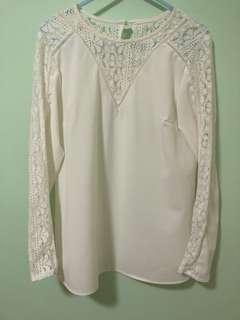 9成新OL白色上衣