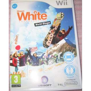"""Wii Game Disc - White SnowBoarding . for PAL console"