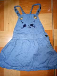 Cute cat denim jumper