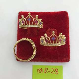 Saudi Gold 18k Cute Ring