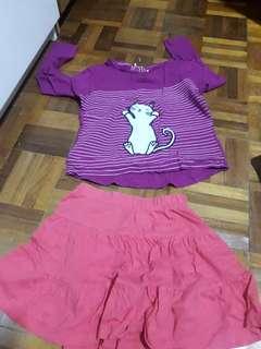 Mothercare shirt & skirt