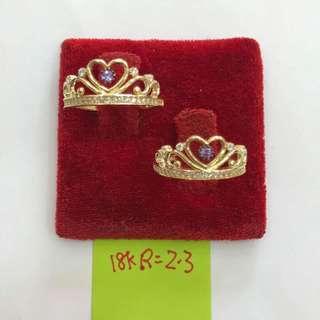 Saudi Gold 18k Cute Ring