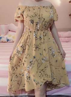 sabrina dress yellow