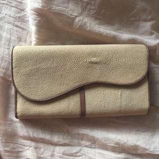 dompet wanita kulit pari asli