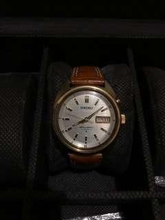 Rare vintage Seiko bellmatic gold turtle mens watch