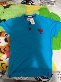 Abercrombie & Fitch shirt blue *cheapest* *steal*