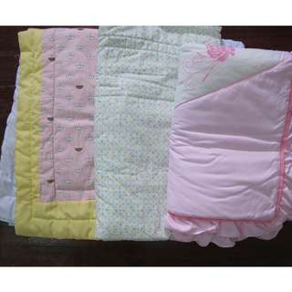 Lot of 3 Crib Beddings for baby girls
