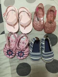 All in Zaxy, H&M and Old Navy Baby Sandals