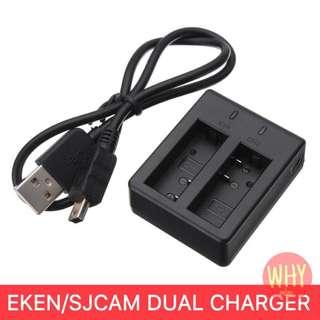 Original SJCAM/EKEN Dual Slot Charger H8R/ H9R/ H3R/H6S/ H5S/ V8s/SJ4000/SJ5000