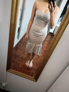 Grey Tube Mermaid Dress
