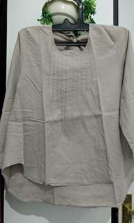 Blouse Cotton Grey