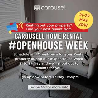 Landlord's Registration for Carousell Rental #OpenHouse Week (Deadline: 17 May)
