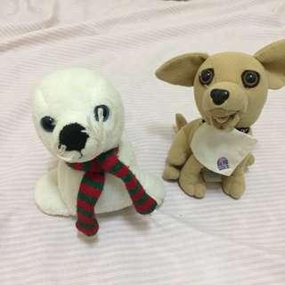 2pcs cute stuffed toys