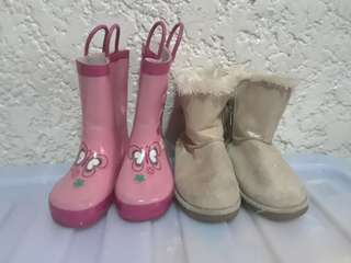 Kids boots as pack