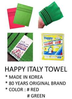 Happy Italy Towel Made in Korea (AUTHENTIC)