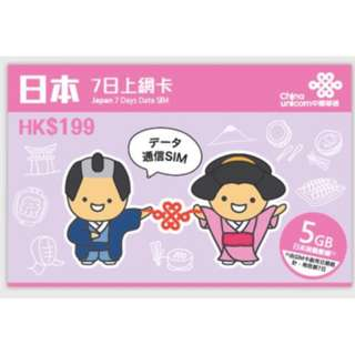 7 Days 5GB Japan Prepaid SIM Card (4G DATA only)