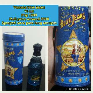 Original Versace Blue Jeans perfume