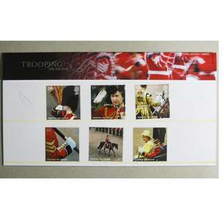 GB UK 英國 - 2005 Queen Elizabeth II 英女皇Trooping the Colour Mint Stamp Set Presentation Pack MNH