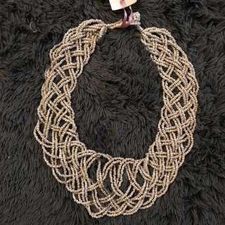 Beaded Braided Ethnic Necklace