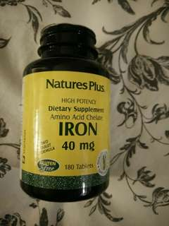 Iron supplement brand new 180 tablets