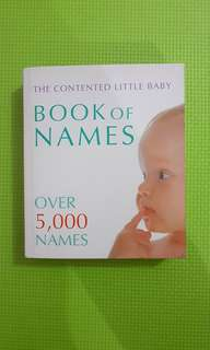 Book of names. Buku nama bayi