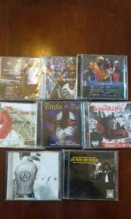 Malaysian Hip hop 8 original CD Rap, Poetic Ammo, Reefa, Junio Hustle, Point Blanc, Teh tarik crew, Tricks & Tales rare cds